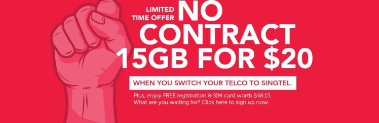 Singtel SIM Only Port In Promo